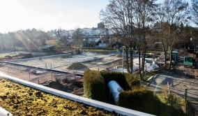 Blick über die Baustelle am 20. Februar 2014