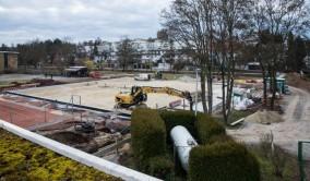 Blick über die Baustelle am 25. Februar 2014