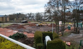 Blick über die Baustelle am 17. Januar 2014