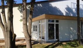 Der Zugang zur neuen Halle