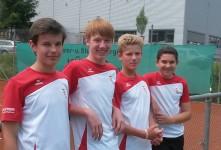 v.l.n.r.: Jonas Mutz, Luca Kinzler, Carl Kemmerich und Marc Schwarzenbacher