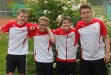 v.l.n.r.: Julian Fauth, Tom Große, Nikola Jambrecic und Malte Arnold