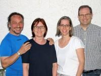 v.l.n.r.: Peter Ladwein, Sigrid Krügel, Anja und Stephan Knist
