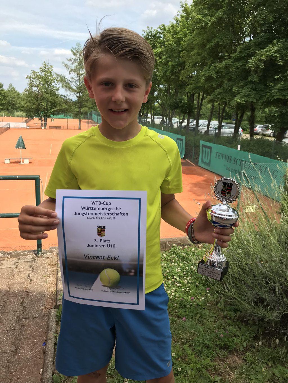 Vincent Eckl erreicht 3. Platz bei den Württembergischen Meisterschaften