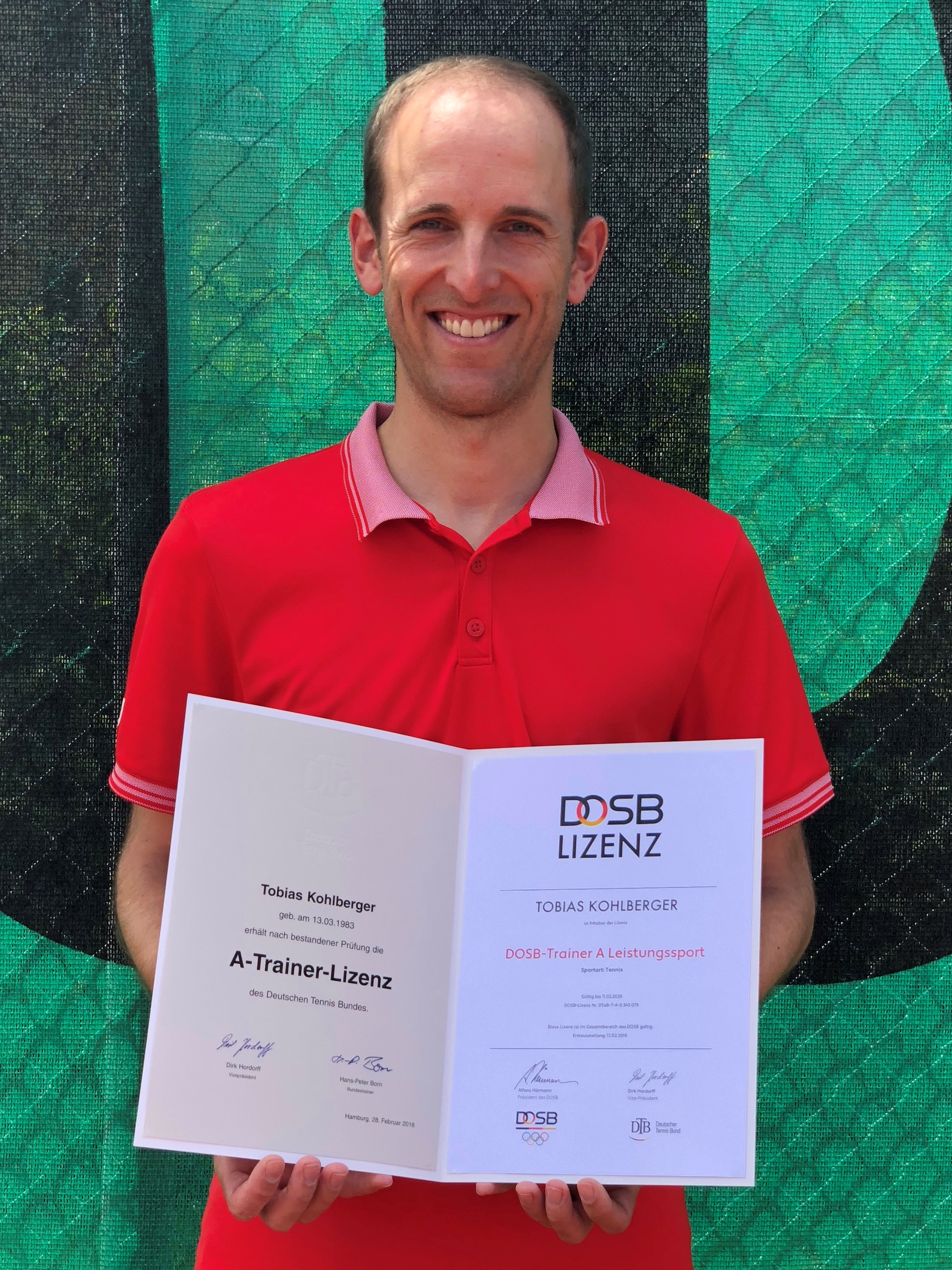 TCE-Cheftrainer Tobias Kohlberger ist DTB-A-Trainer